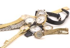 Multiple Wrist watches Royalty Free Stock Photography