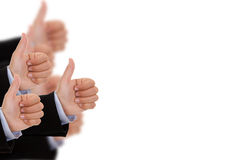 Multiples hands with thumbs up Stock Images