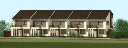 Multiplex family house render Stock Photo