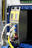 Multiplexeur optique de WDM de fibre avec le connecteur de LC Image libre de droits