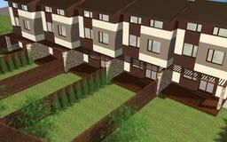 Multiplexfamilienhaus übertragen stock abbildung