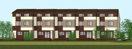Multiplexfamilienhaus übertragen vektor abbildung