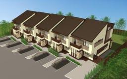 Multiplexfamilienhaus stock abbildung