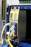 Multiplexor óptico del wdm de fibra con el conector del lc Imagen de archivo libre de regalías