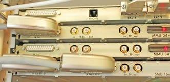 Multiplexor óptico en el operador móvil del sitio del servidor Imagen de archivo