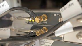 Multiplexor de los conectores bañados en oro Imagen de archivo libre de regalías