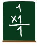 Multiplicación de la escuela primaria Imagen de archivo