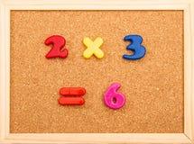 Multiplicación de la matemáticas fotos de archivo