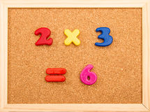 Multiplication de maths photos stock
