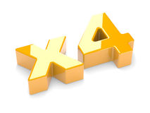 Multiplication or increase concept x4 Stock Photos