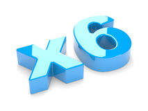 Multiplication or increase concept x6 Royalty Free Stock Image