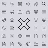 Multiplication sign icon. Detailed set of minimalistic icons. Premium graphic design. One of the collection icons for websites, we. B design, mobile app on stock illustration
