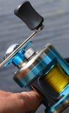 Multiplikatorspule für das Mit der Schleppangel fischen Stockfotos