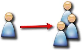 multipling люди иллюстрация вектора