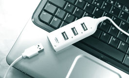 Multiport del USB Imágenes de archivo libres de regalías