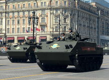 The multipurpose airborne armored personnel carrier BTR-MDM Rakushka Stock Photos