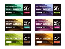 Multipurpose Banner Design in 6 Different Color Themes. For your advertising or campaign need Royalty Free Illustration