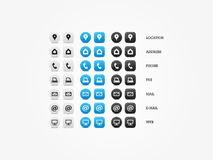 Multipurpose Business Card Icon Set Stock Photography