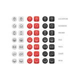 Multipurpose business card icon set of web icons for business, finance and communication Royalty Free Stock Photo
