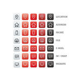 Multipurpose business card set of web icons for business, finance and communication Royalty Free Stock Images