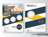 Multipurpose business and corporate flyer layout design Stock Photos