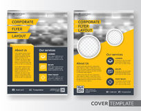 Multipurpose business and corporate flyer layout design. Multipurpose business corporate flyer layout design. Suitable for flyer, brochure, book cover and annual Royalty Free Stock Photography