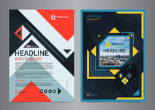 Multipurpose business flyer layout design with geometric shapes. Stock Images