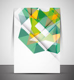 Multipurpose CMYK Geometric Print Template Stock Photos