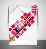 Multipurpose CMYK Geometric Print Template Stock Photography