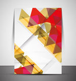 Multipurpose CMYK geometric print template Royalty Free Stock Photo