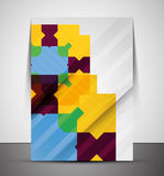 Multipurpose CMYK geometric print template Royalty Free Stock Photos