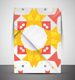 Multipurpose CMYK geometric print template Stock Photo