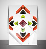 Multipurpose CMYK geometric print template Stock Photography