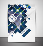 Multipurpose CMYK geometric print template Stock Images