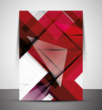 Multipurpose CMYK geometric print template Royalty Free Stock Photography