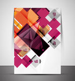 Multipurpose CMYK geometric print template Royalty Free Stock Images