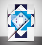 Multipurpose CMYK geometric print template Royalty Free Stock Image