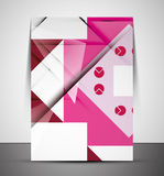 Multipurpose CMYK geometric print template Stock Image