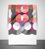 Multipurpose CMYK geometric print template Stock Photos