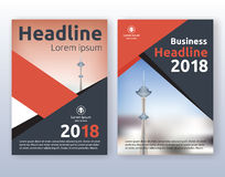 Multipurpose corporate business flyer layout design. Suitable for flyer, brochure, book cover and annual report. Red and black color scheme in A4 size layout Royalty Free Stock Photography