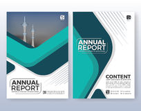Multipurpose corporate business flyer layout design. Suitable for flyer, brochure, book cover and annual report. Turquoise color scheme in A4 size layout Stock Photo