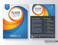 Multipurpose corporate business flyer layout template. Design. Suitable for leaflet, flyer, brochure, book cover and annual report. Layout in A4 size with Stock Image