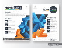 Multipurpose corporate business flyer layout template. Design. Suitable for leaflet, flyer, brochure, book cover and annual report. Layout in A4 size with Royalty Free Stock Images