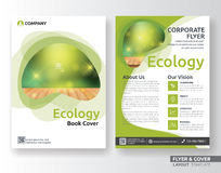 Multipurpose corporate business flyer layout template. Design. Suitable for leaflet, flyer, brochure, book cover and annual report. Layout in A4 size with Royalty Free Stock Photo