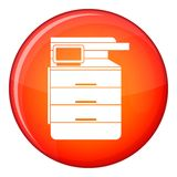 Multipurpose device, fax, copier and scanner icon Stock Photos