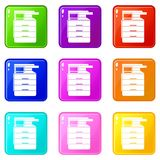 Multipurpose device, fax, copier and scanner icons Royalty Free Stock Photography