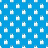 Multipurpose device, fax, copier and scanner pattern seamless blue Stock Image