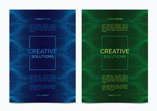 Multipurpose Flyer Layout with billowy lines background. Vector illustration Stock Images