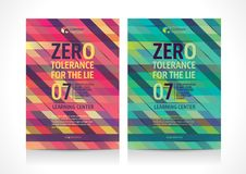 Multipurpose Flyer template layout design with Geometric Element. Creative modern vector illustration Stock Photo