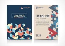 Multipurpose Flyer template layout design with Geometric Element. Creative modern vector illustration Stock Photography